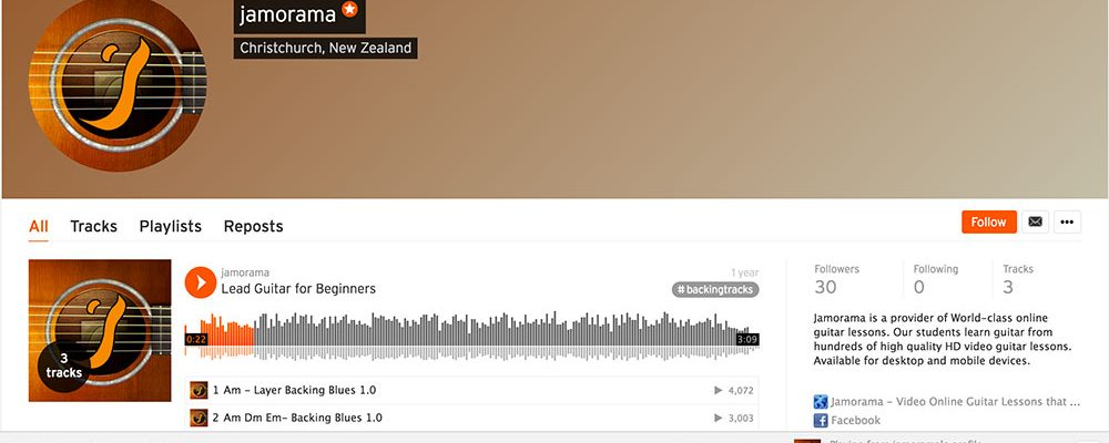Start Jamming with the SoundCloud 'backing tracks' tab