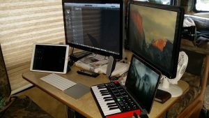 The very beginnings for a recording studio: Apple Logic Pro X with iPad remote control and an Akai M